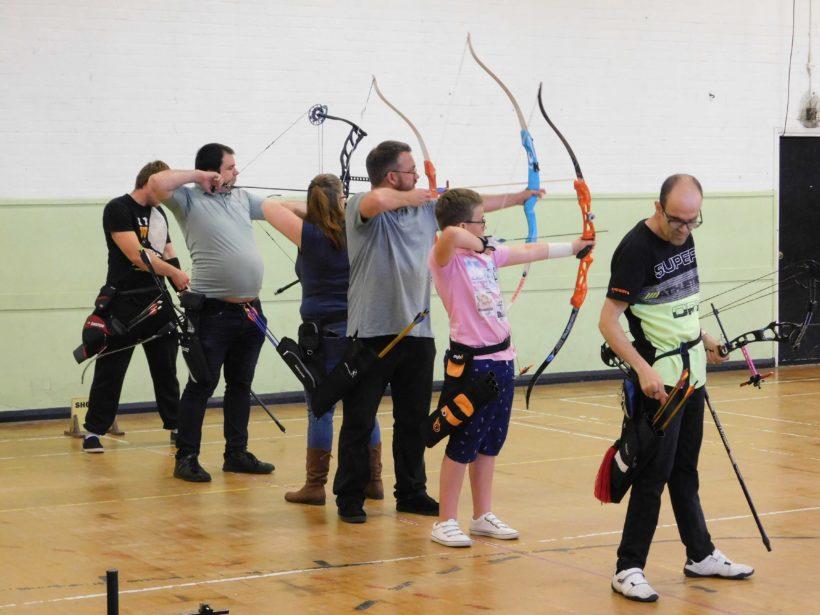 Archers shooting line