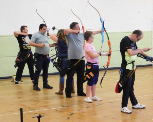 Club members happily shooting